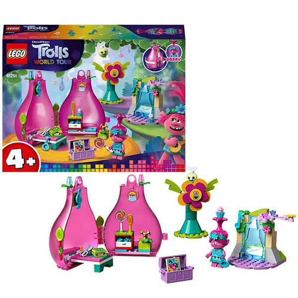 Купить LEGO Trolls 41251 Конструктор ЛЕГО Тролли Домик-бутон Розочки, Конструкторы LEGO