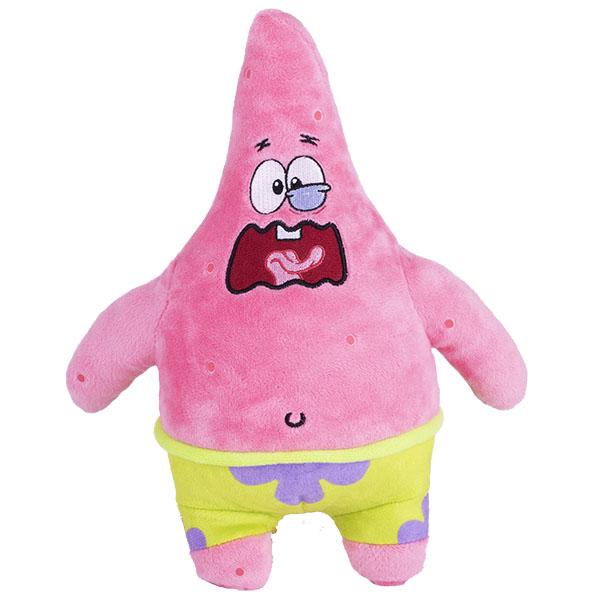 Мягкие игрушки SpongeBob SpongeBob EU690903 Плюшевый Патрик (со звук. эффектами,рыгает,20 см) по цене 1 199