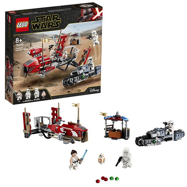 Купить LEGO Star Wars 75250 Конструктор ЛЕГО Звездные войны Погоня на спидерах, Конструкторы LEGO