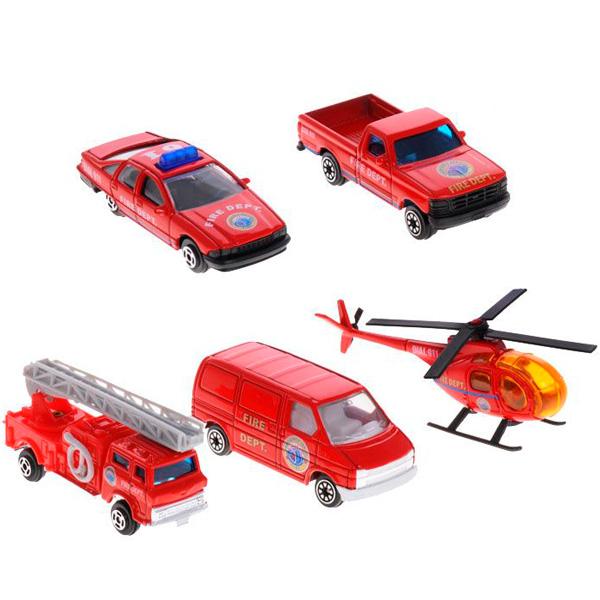 Купить Welly 97506B Велли Игровой набор Пожарная команда 5 шт, Машинка Welly