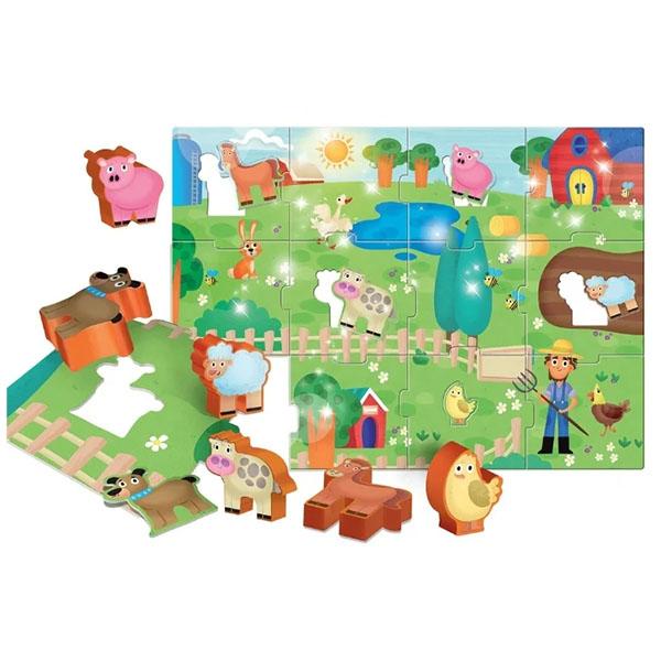 LISCIANI R63512 МОЯ ФЕРМА Пазл для самых маленьких с 3-D фигурками - Настольные игры
