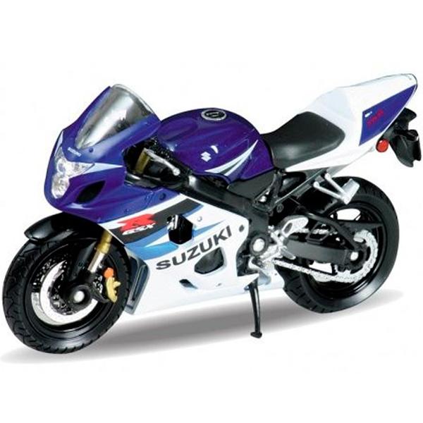 Welly 12803P Велли Модель мотоцикла 1:18 MOTORCYCLE / SUZUKI GSX-R750 - Транспорт