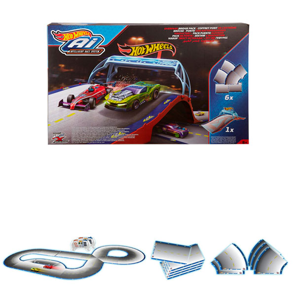 Купить Mattel Hot Wheels FDY11 Хот Вилс Дополнительные детали для Умная трасса с Р/У машинками, автотрек Mattel Hot Wheels