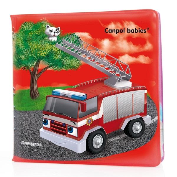 Купить Canpol babies 250989069 Книжка мягкая с пищалкой, машины, 6м+, Детские игрушки для ванной Canpol babies