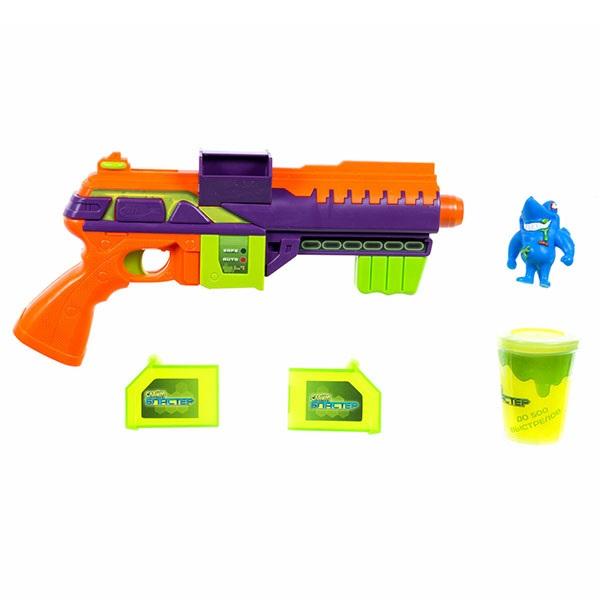 Купить 1toy Слайм Бластер T15830 Атака монстров (в компл. бластер, мишень, слизь), Игрушечное оружие и бластеры 1toy