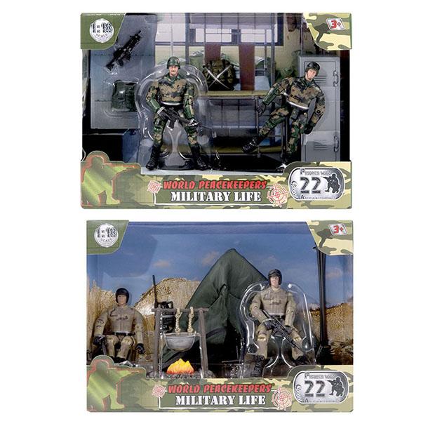 Купить World Peacekeepers MC77035 Игровой набор Армейская жизнь 2 фигурки, 1:18 (в ассортименте), Игровые наборы и фигурки для детей World Peacekeepers