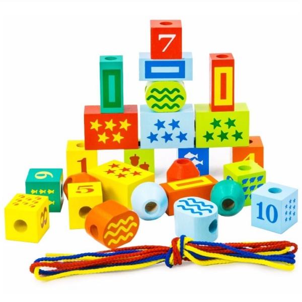 Купить Alatoys 2501ALLA Конструктор Шнуровочка цифры , Деревянные игрушки Alatoys
