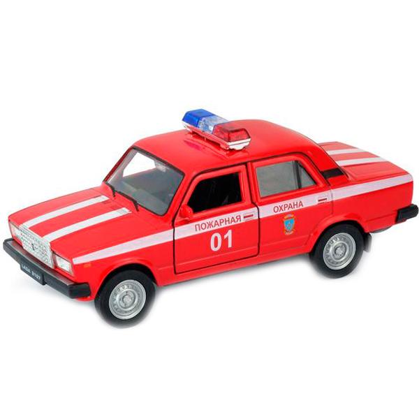 Купить Welly 43644FS Велли модель машины 1:34-39 LADA 2107 ПОЖАРНАЯ ОХРАНА, Машинка инерционная Welly