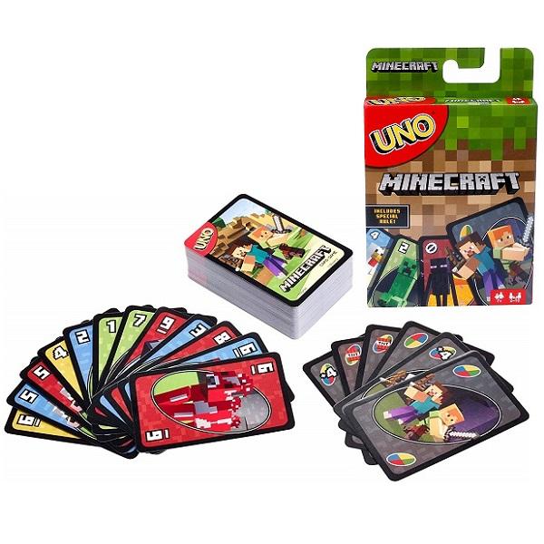 Купить Mattel Uno FPD61 Карточная игра Уно Майнкрафт, Настольные игры Mattel Games