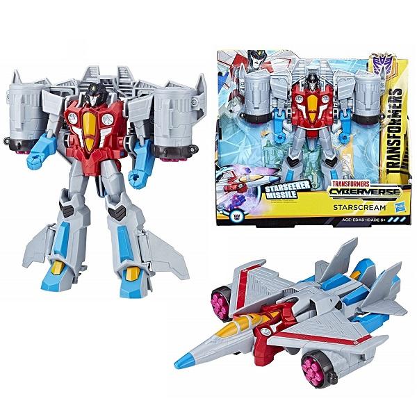 Купить Hasbro Transformers E1886/E1906 Трансформер КИБЕРВСЕЛЕННАЯ 19 см Старскрим, Игровые наборы и фигурки для детей Hasbro Transformers