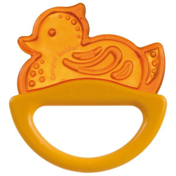 Купить Canpol babies 250930514 Погремушка с эластичным прорезывателем, 0+, цвет: желтый, форма: уточка, Погремушка Canpol babies