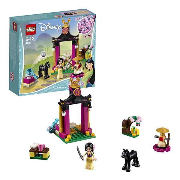 Купить LEGO Disney Princess 41151 Конструктор ЛЕГО Принцессы Дисней Учебный день Мулан, Конструкторы LEGO
