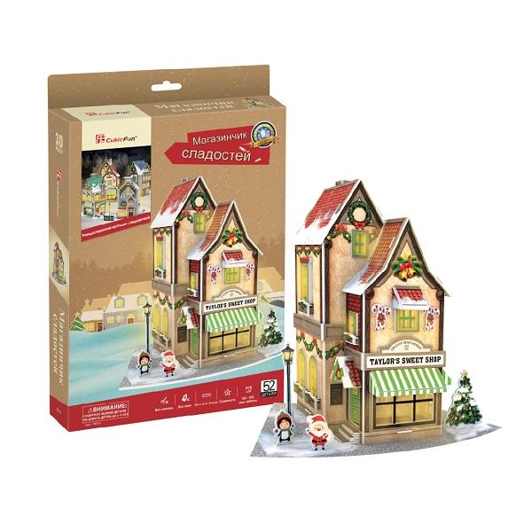 Купить Cubic Fun P801h Кубик фан Рождественский коттедж, 3D пазлы Cubic Fun