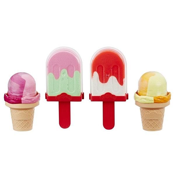 Купить Hasbro Play-Doh E6642 Игровой набор Холодильник с мороженым , Пластилин и масса для лепки Hasbro Play-Doh