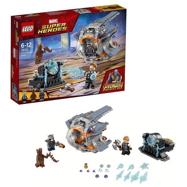 Купить LEGO Super Heroes 76102 Конструктор ЛЕГО Супер Герои В поисках оружия Тора, Конструкторы LEGO