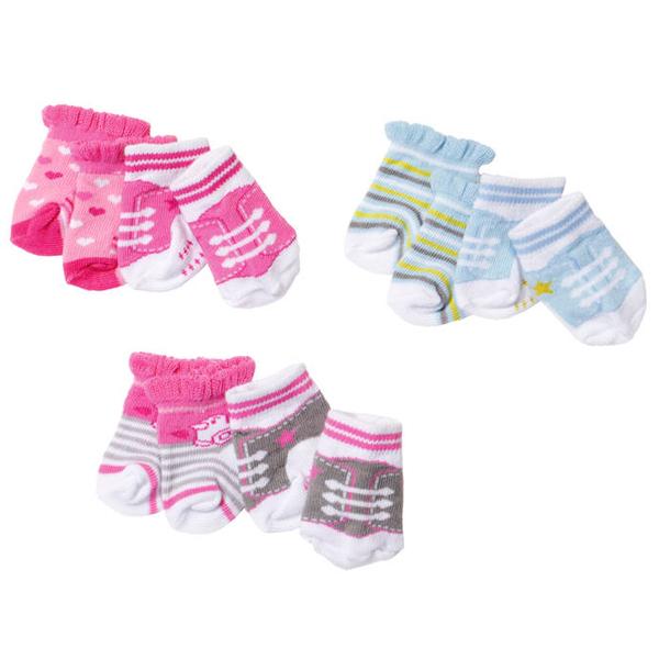 Купить Zapf Creation Baby born 823-576 Бэби Борн Носочки, 2 пары (в ассортименте), Одежда для куклы Zapf Creation