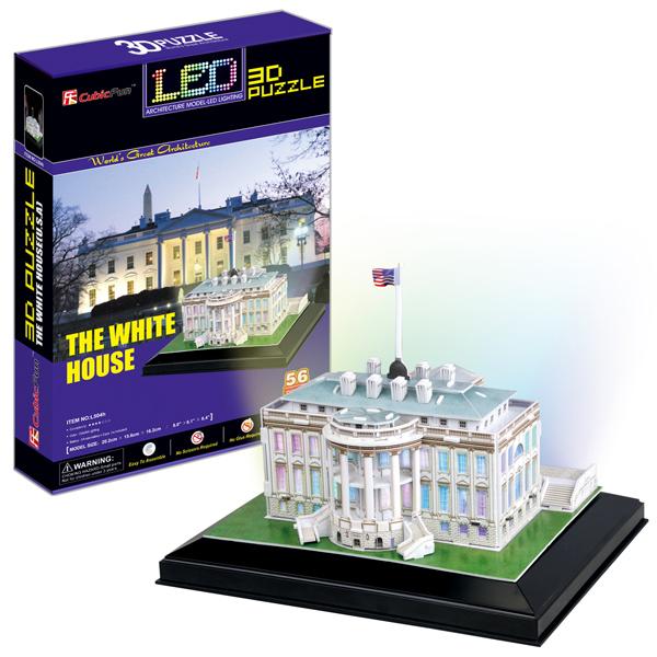 Купить Cubic Fun L504h Кубик фан Белый дом с иллюминацией (Вашингтон), 3D пазлы Cubic Fun