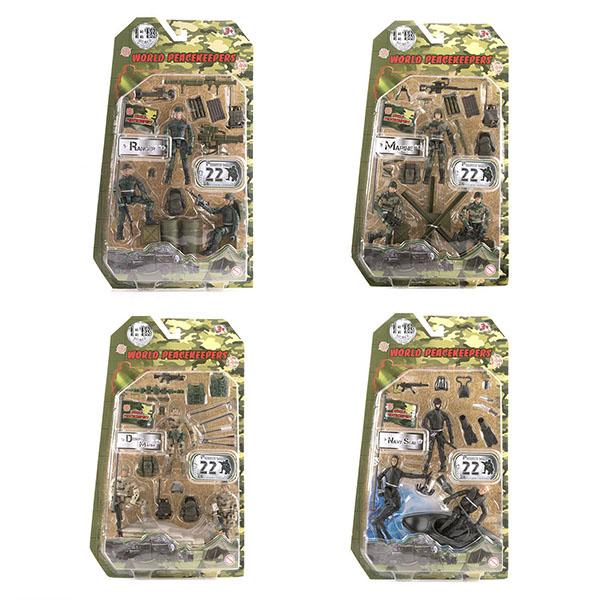 """Игровые наборы и фигурки для детей World Peacekeepers MC77003 Игровой набор """"Отряд"""" 3 фигурки, 1:18 (в ассортименте) фото"""